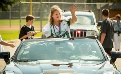 Homecoming Parade for Litchfield High School Amy Felt as Queen